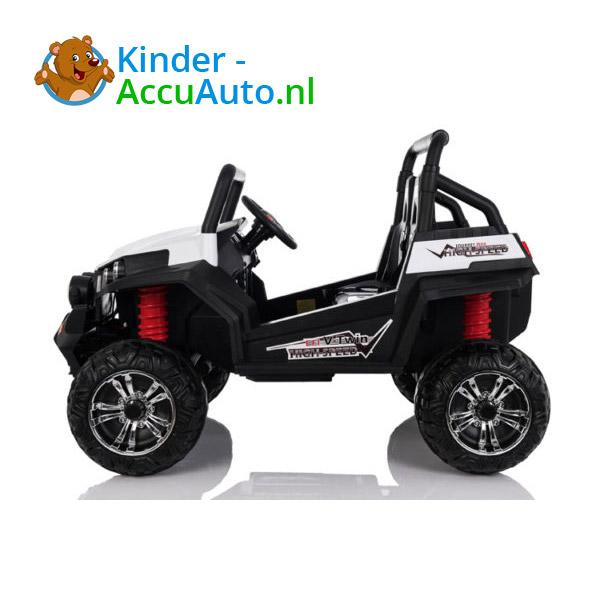 elektrische kinderauto beach buggy 4x4 wit 4