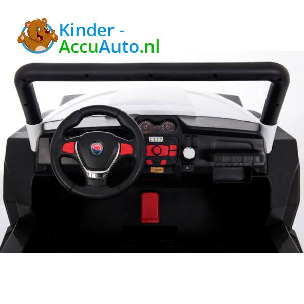 elektrische kinderauto beach buggy 4x4 wit 5
