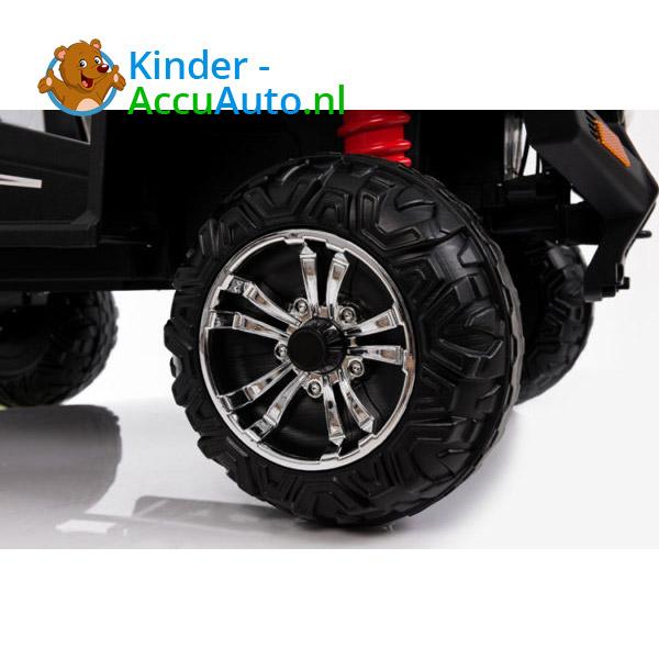 elektrische kinderauto beach buggy 4x4 wit 8