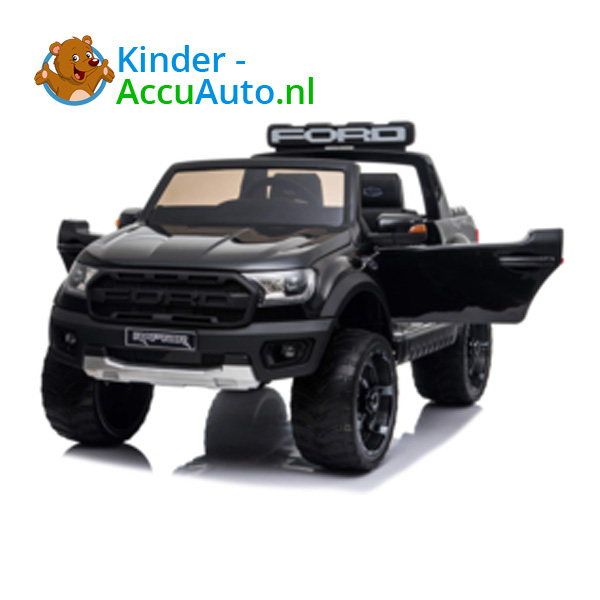 Ford Ranger Raptor F-150 Zwart-Kinderauto 8