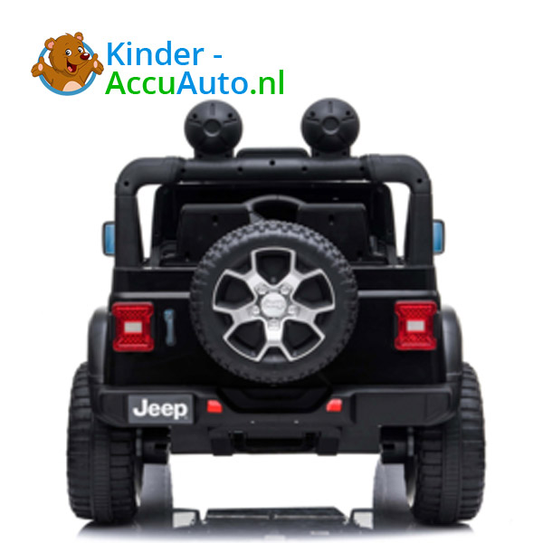 JEEP Wrangler Rubicon Zwart Kinderauto 6