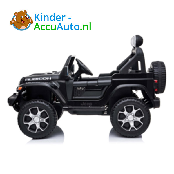 JEEP Wrangler Rubicon Zwart Kinderauto 7