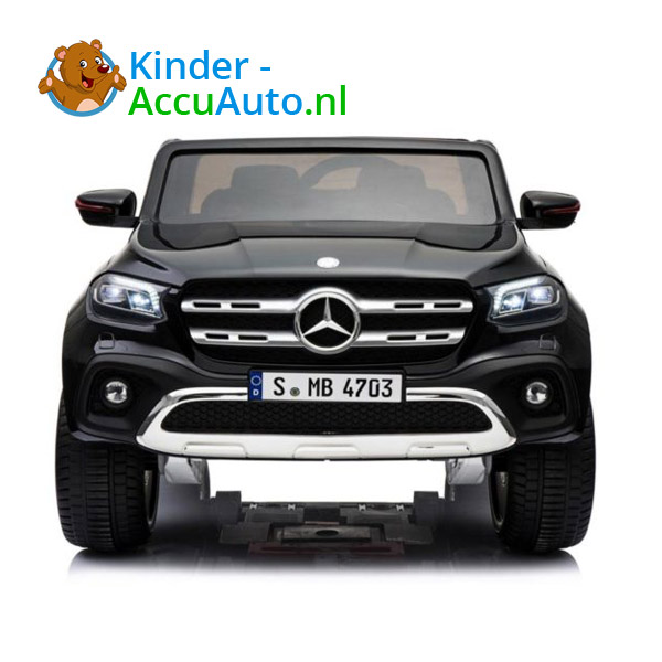 Mercedes X-class Zwart Kinderauto 2 persoons 4WD 2