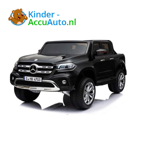 Mercedes X-class Zwart Kinderauto 2 persoons 4WD 4