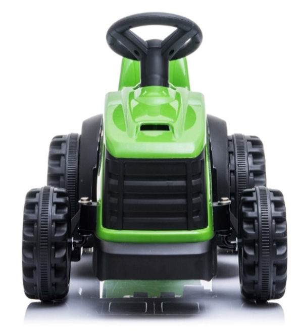 tractor trailer kinderauto 6V groen 2