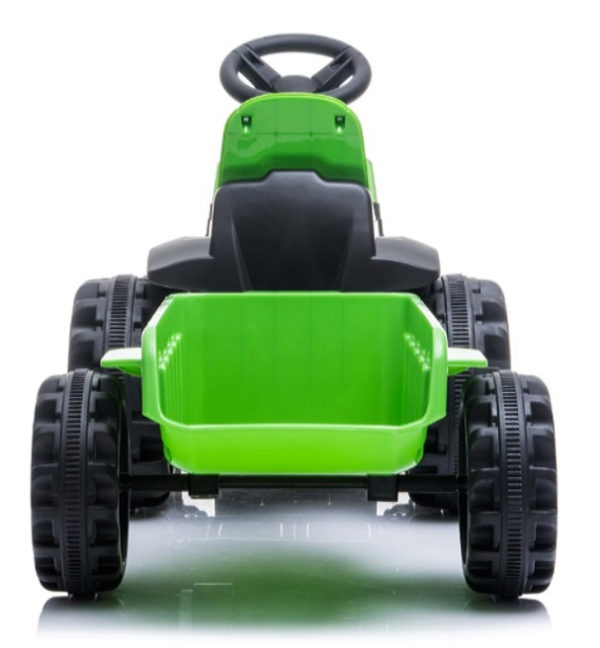 tractor trailer kinderauto 6V groen 3