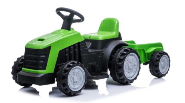 tractor trailer kinderauto 6V groen 4