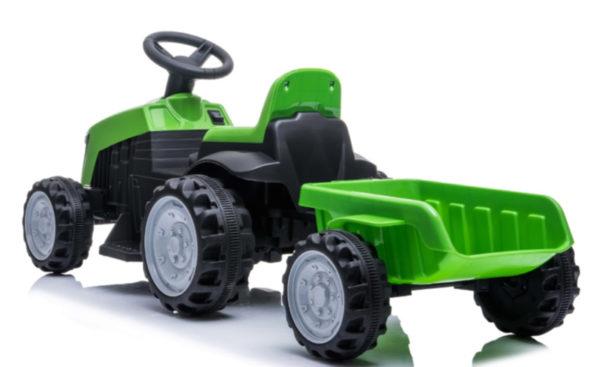 tractor trailer kinderauto 6V groen 7