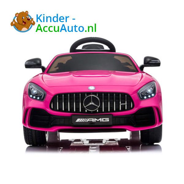 Elektrische kinderauto mercedes GTR AMG roze 3