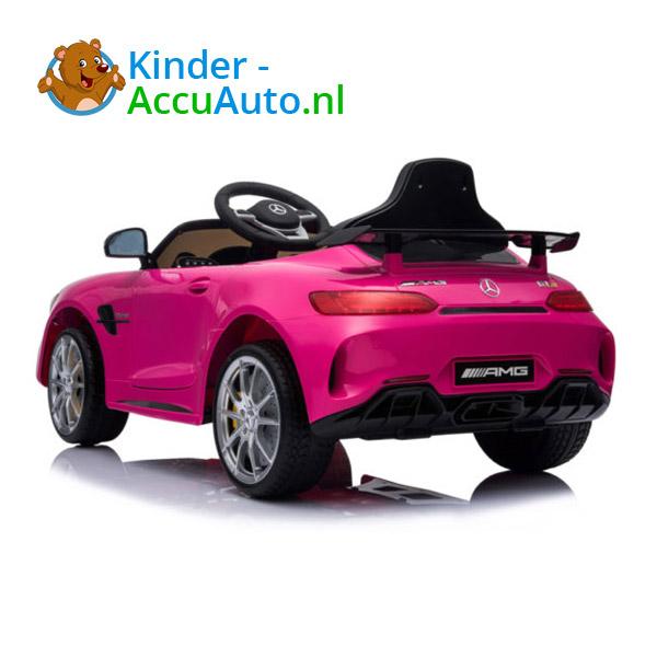Elektrische kinderauto mercedes GTR AMG roze 4