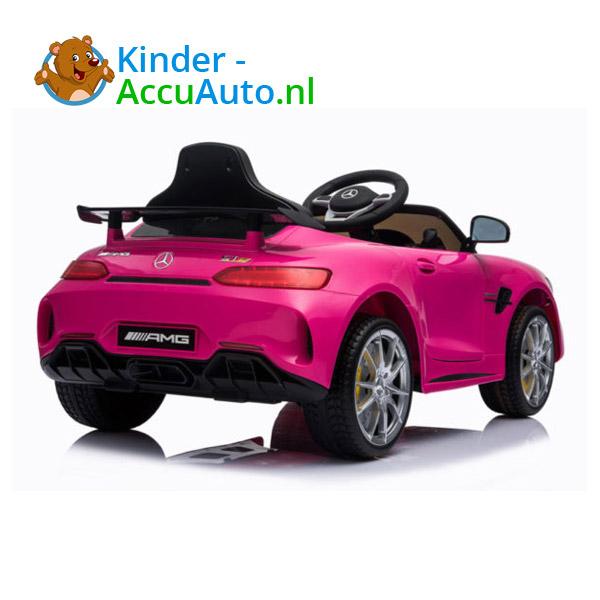Elektrische kinderauto mercedes GTR AMG roze 5