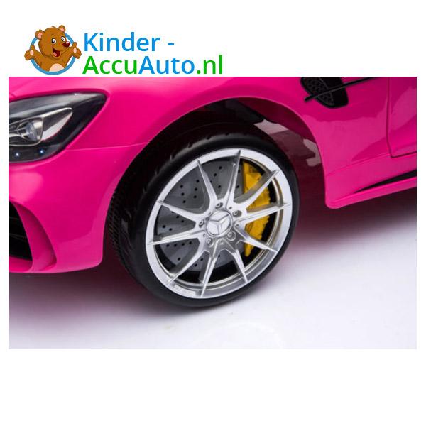 Elektrische kinderauto mercedes GTR AMG roze 6