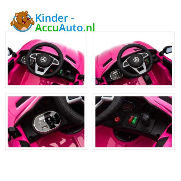 Elektrische kinderauto mercedes GTR AMG roze 7