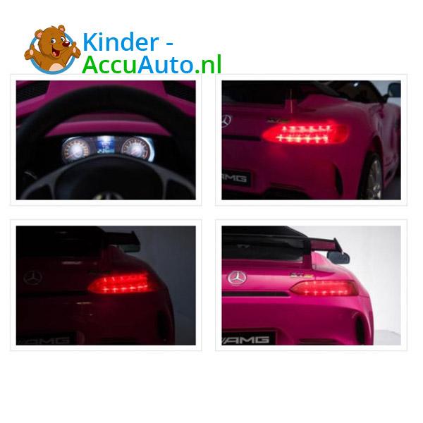 Elektrische kinderauto mercedes GTR AMG roze 8