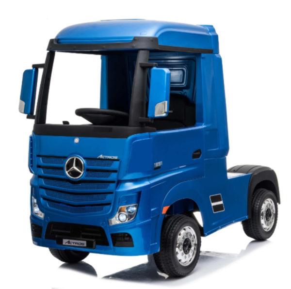 Elektrische kinder vrachtwagen mercedes actros blauw 3
