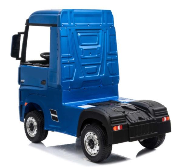 Elektrische kinder vrachtwagen mercedes actros blauw 5