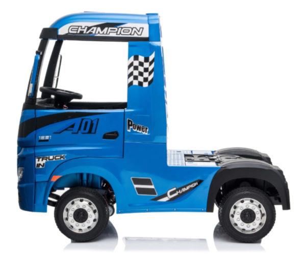 Elektrische kinder vrachtwagen mercedes actros blauw 7