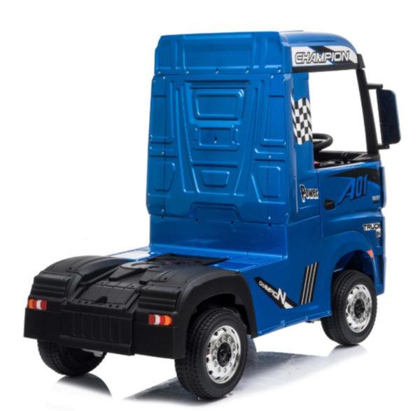 Elektrische kinder vrachtwagen mercedes actros blauw 8
