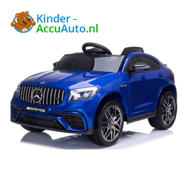 Kinderauto mercedes GLC 63S blauw 1