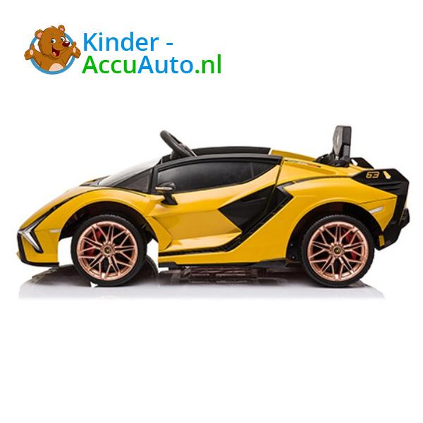 Lamborghini SIAN Geel Kinderauto 2