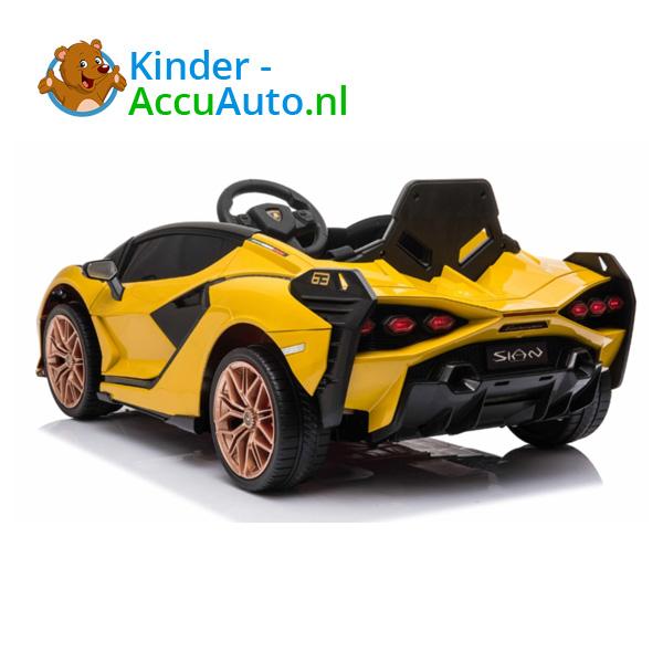 Lamborghini SIAN Geel Kinderauto 5