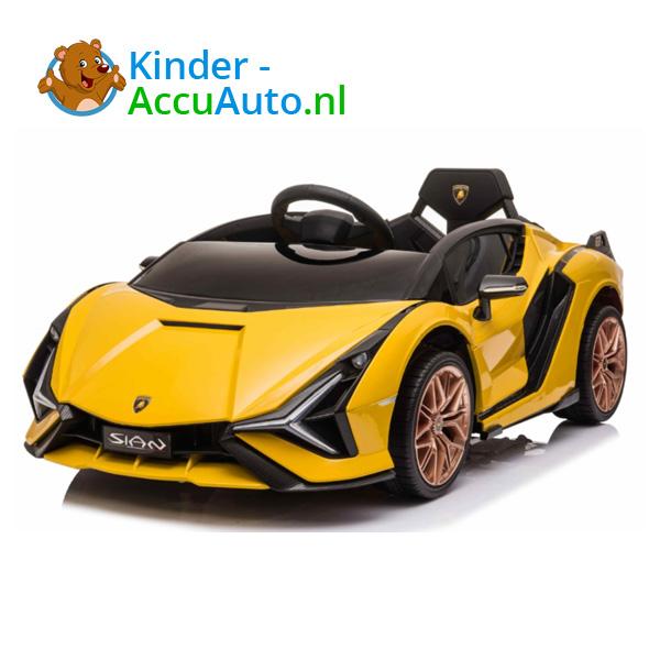 Lamborghini SIAN Geel Kinderauto 8