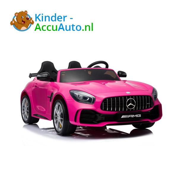Mercedes GTR 2-zitter Roze Kinderauto 1