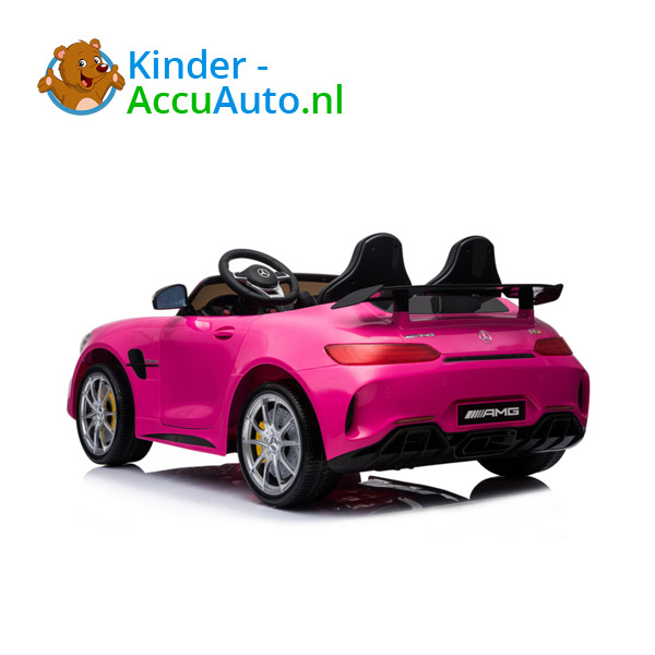 Mercedes GTR 2-zitter Roze Kinderauto 6
