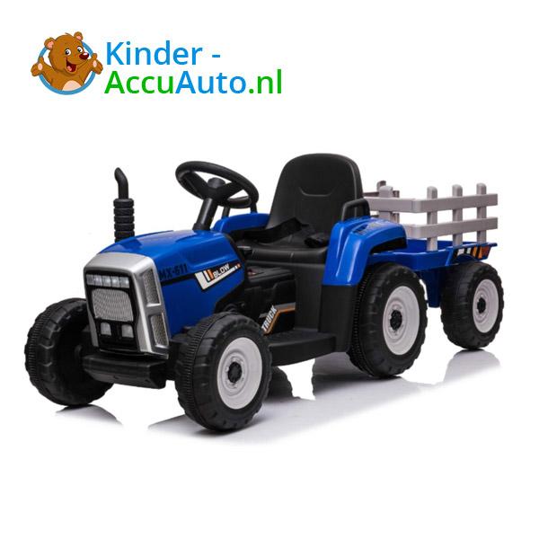 Tractor Trailer Blauw Kindertractor 1