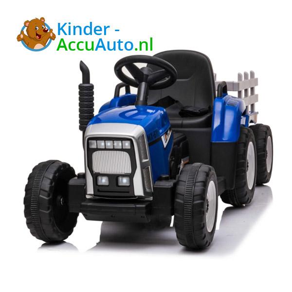 Tractor Trailer Blauw Kindertractor 3