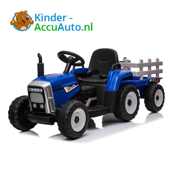 Tractor Trailer Blauw Kindertractor 4