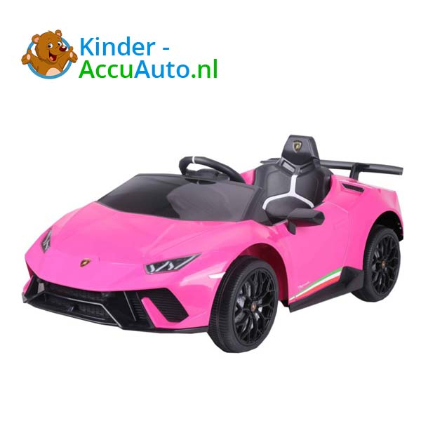 Lamborghini Huracan Roze Kinderauto 3