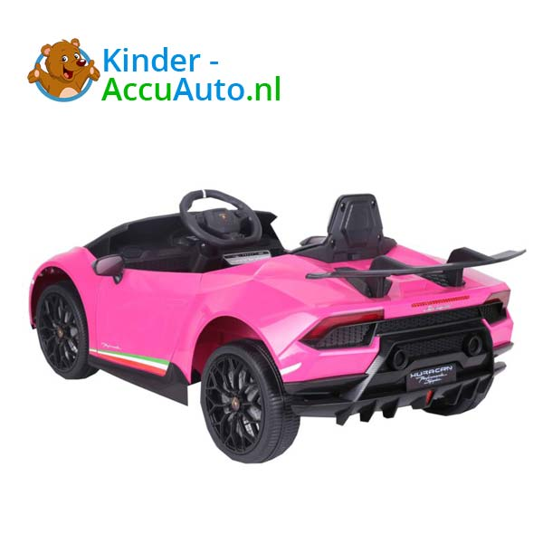 Lamborghini Huracan Roze Kinderauto 8