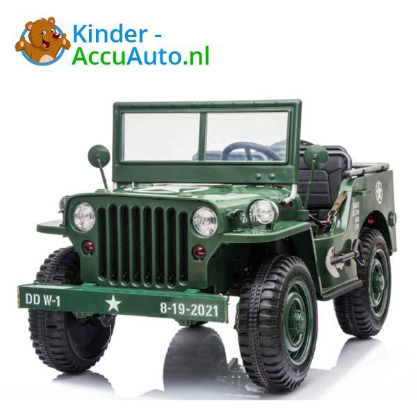 Jeep Army Groen Kinderauto 4WD 1