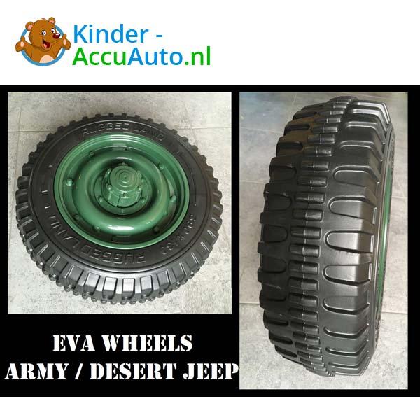Jeep Army Groen Kinderauto 4WD 13