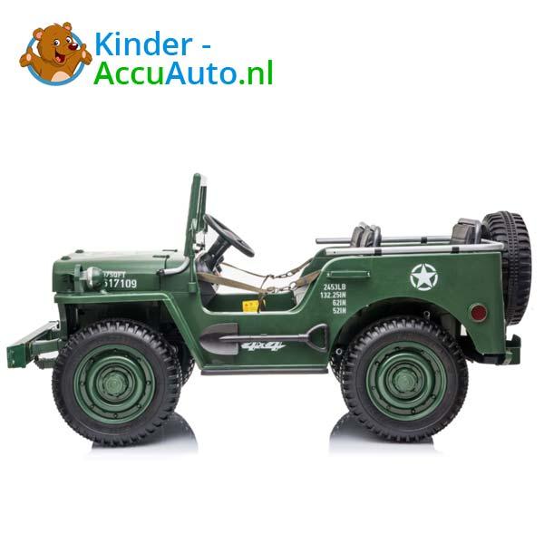 Jeep Army Groen Kinderauto 4WD 2