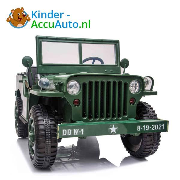 Jeep Army Groen Kinderauto 4WD 4