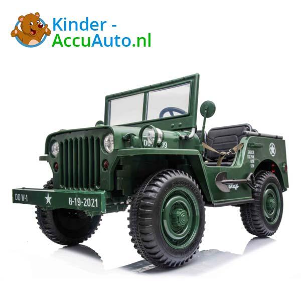 Jeep Army Groen Kinderauto 4WD 5