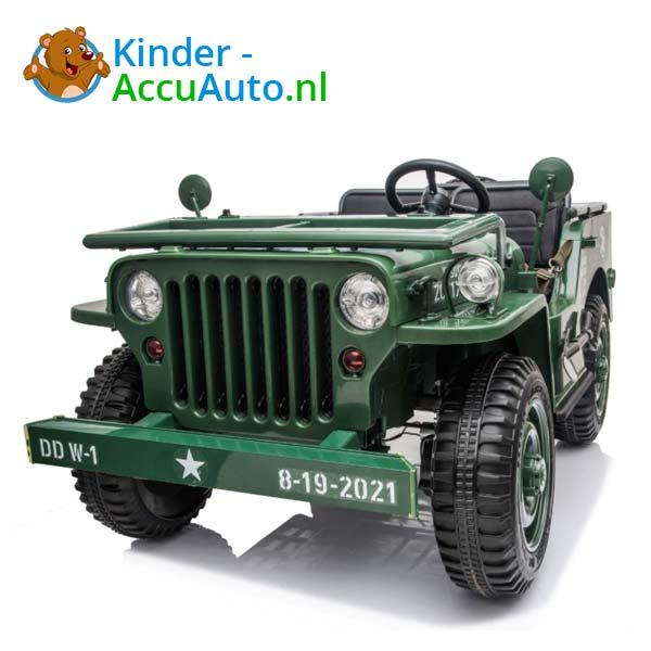 Jeep Army Groen Kinderauto 4WD 7
