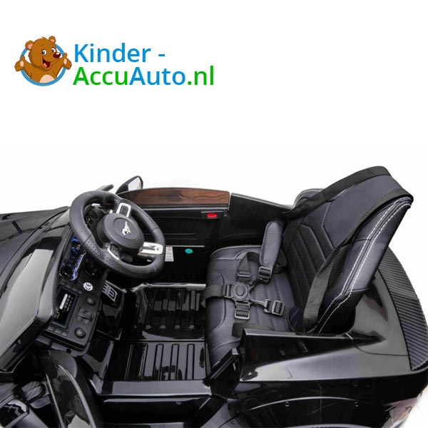 elektrische ford mustang kinderauto 24v zwart 9