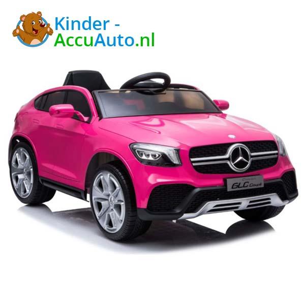 mercedes benz glc coupe elektrische kinderauto roze 1