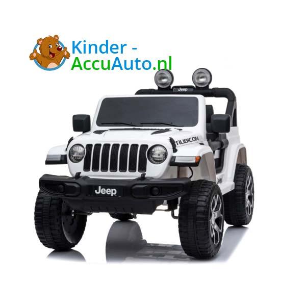 Jeep Wrangler Rubicon Wit Kinderauto 1
